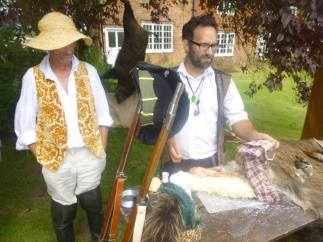 Taxidermy demo at Monks Kirby Midsummer Country Fair